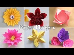 Paper Flower Making Video 51 6 Easy Paper Flowers Flower Making Diy Youtube Diy