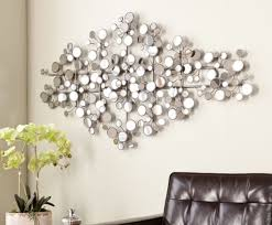 round mirror wall art glass mirrored sculpture decor geometric art chic modern s