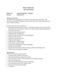 Supervisor Job Description Resume Supervisor Job Description Resume Supervisor Responsibilities For 2