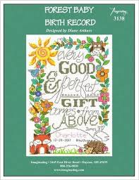 Baby Birth Chart Free Amazon Com Forest Baby Birth Record Cross Stitch Chart And