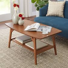 better homes gardens reed mid century modern coffee table pecan com