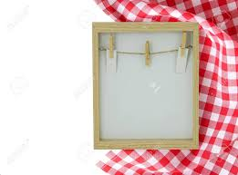 Food Recipe Template Food Recipe Template Empty Wooden Frame And A Red White Checkered