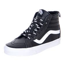 vans u sk8 hi reissue otw webbing black leather sneakers alte uomo nero