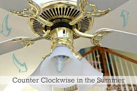 set your ceiling fan to move counter clockwise in the summer