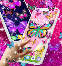Glitter Butterfly Wallpaper Live