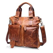 ekphero retro mens bag fashion business handbag durable real leather shoulder bag 01 cod