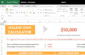 Loan Calculator College College Loan Calculator For Excel Online College Financial