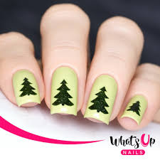 Whats Up Nails / Pine Tree Stickers & Stencils – Daily Charme