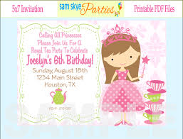 doc printable princess party invitations outstanding princess party invitation template further printable princess party invitations