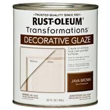 Decorative Glaze Rustoleum Rust Oleum Transformations 1 Qt Java Brown Cabinet Decorative