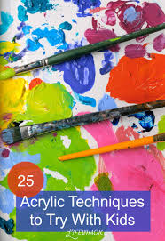 acrylic painting techniques for kids or beginners acrylic paint is so versatile and fun to