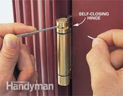 self closing door hinges. self-closing door: making an existing garage service door automatic self closing hinges s