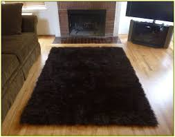 outstanding faux fur area rug dark brown home design ideas within fur area rug modern