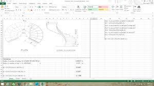 Spiral Staircase Design Calculation Design Of Spiral Stair Spreedsheet