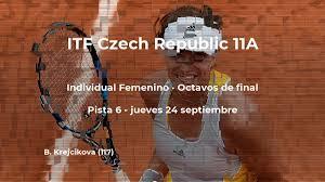 Resultados de tenis en directo: partido Grace Min - Barbora Krejcikova en  ITF Czech Republic 11A
