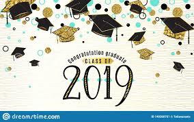 Free Graduation Background Designs Graduation Background Class Of 2019 With Graduate Cap Black