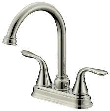 brushed nickel finish long neck bar bathroom faucet brushed nickel finish 4 in spread brushed nickel brushed nickel finish