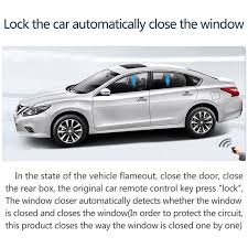 chsky universal car power window roll up closer for 4 doors auto close windows car alarm systems module car protector