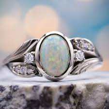 Design Your Own Opal Engagement Ring Opal Engagement Rings Custommade Com