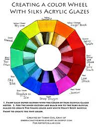 creating a color wheel with silks acrylic glazes by tammy dial gray in artistcellar com
