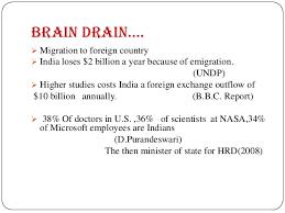 vs bharat brain drain