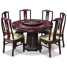 oriental dining room furniture. This Classic Rosewood Round Dining Table Is Laced With Hand-carved Grape Vine Design Along The Edge. Dark Cherry Finish. Oriental Room Furniture I
