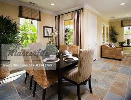 recessed lighting in dining room. Dining Room With Tile Floor And Recessed Lighting - Stock Photo In Dining T