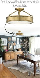 home office lights. Love All Of The Flush Mount Lighting Options In This Post! Especially Brass Semi Sources For Our Home Office Lights