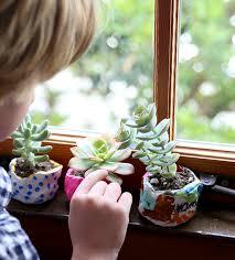 diy kids craft mini clay pots