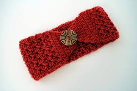 Free Crochet Ear Warmer Pattern With Button Closure