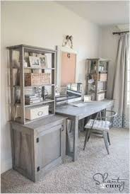 diy home office desk plans. free plans diy desk system in weathered gray finish diy home office