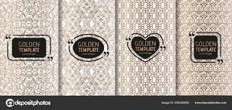 Swirls Templates Set Of Golden Luxury Templates Abstract Geometric