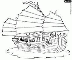 Kleurplaat Jonk Een Aziatische Schip Kleurplaten