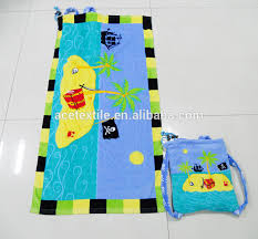 2015 Customized Fashion Flower Beach Towel Bag Towels Traps