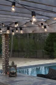 ... Outdoor Lighting, Patio Hanging Lights String Lights On Deck Railing Hang  Patio String Lights In ...