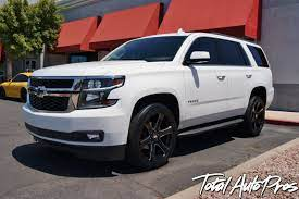 2015 Chevrolet Tahoe With 22 Black Rhino Wheels And 285 45r22 Toyo Proxes Stii S Chevrolet Tahoe Chevy Tahoe Chevrolet