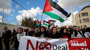 Resultado de imagen para imagenes de rechazo del trato de paz de palestinos