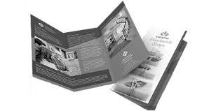 White Brochure Black White Brochures Printing