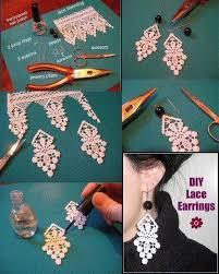diy lace earrings diy projects
