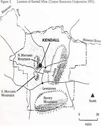 Location of kendall mine vat leaching