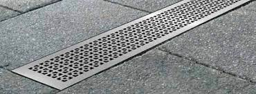 drainage channel with grating geo