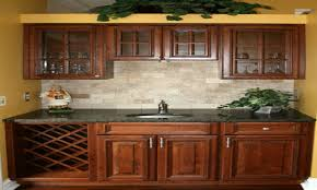 Simple Kitchen Backsplash Maple Cabinets Traditional