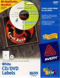 Avery Cd Labels Avery Matte White Cd Labels For Inkjet Printers 20 Face 40 Spine 8699 Office