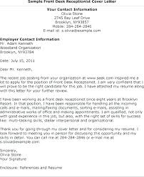 Cover Letter Samples For Receptionist Cover Letter For A