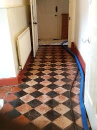 black and red quarry tiles welton before cleaning