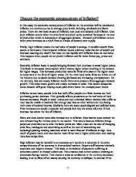 discuss the economic consequences of inflation a level  page 1