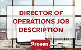 The Perfect Director Of Operations Job Description Proven