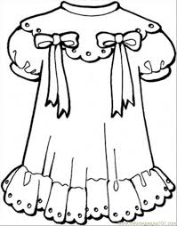Small Picture Girly Dress Coloring Page Free Clothing Coloring Pages