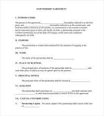 10+ Sample Business Partnership Agreements | Sample Templates