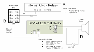 bell scheduling and setup for the reader this diagram depicts the proper wiring of the sy 124 external relay for use a bell or buzzer the sy 124 external relay is intended for those who do